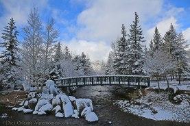 A snowy day in Estes Park